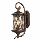 ELK 2 Light Outdoor Sconce in Hazlenut Bronze and Designer Water Glass EK-42031-2