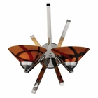 ELK 2 Light Sconce in Polished Chrome and Jasper Glass EK-1478-2JAS