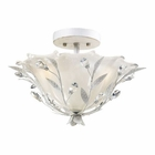 ELK 2- Light Semi-Flush in Antique White EK-18111-2