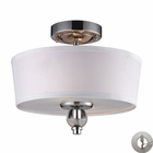 ELK 2- Light Semi-Flush in Polished Chrome With Adapter Kit EK-31284-2-LA
