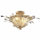 ELK 2 Light Semi Flush in Russet Beige and Crystal Droplets EK-8069-2