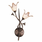 ELK 2 Light Wall Bracket in Aged Bronze and Hand Blown Tulip Glass EK-7953-2