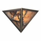 ELK 2 Light Wall Bracket in Antique Brass and Veined Stone EK-9003-2