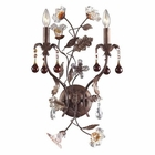 ELK 2 Light Wall Bracket in Deep Rust and Hand Blown Florets EK-7043-2
