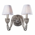 ELK 2 Light Wall Bracket in Sunset Silver and Crystal Accents EK-6230-2