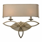 ELK 2- Light Wall Sconce in Aged Silver EK-31121-2