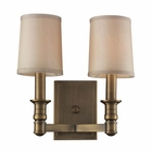 ELK 2- Light Wall Sconce in Brushed Antique Brass EK-31261-2