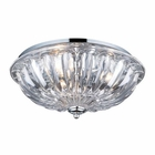 ELK 3- Light Flushmount in Polished Chrome EK-31242-3