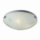 ELK 3 Light Night Sky Flush Mount in Satin Nickel EK-5088-3