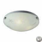 ELK 3 Light Night Sky Flush Mount in Satin Nickel With Adapter Kit EK-5088-3-LA