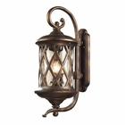 ELK 3 Light Outdoor Sconce in Hazlenut Bronze and Designer Water Glass EK-42032-3