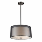 ELK 3- Light Pendant in Black Chrome EK-10313-3