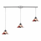 ELK 3 Light Pendant in Polished Chrome and Creme White Glass EK-1477-3L-CRW
