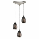 ELK 3- Light Pendant in Satin Nickel EK-31133-3ASH
