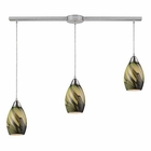 ELK 3- Light Pendant in Satin Nickel EK-31133-3L-PLN