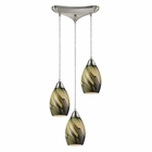 ELK 3- Light Pendant in Satin Nickel EK-31133-3PLN
