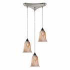 ELK 3- Light Pendant in Satin Nickel EK-31138-3