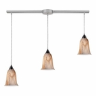 ELK 3- Light Pendant in Satin Nickel EK-31138-3L