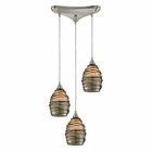 ELK 3- Light Pendant in Satin Nickel EK-31142-3