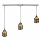 ELK 3- Light Pendant in Satin Nickel EK-31142-3L