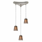 ELK 3- Light Pendant in Satin Nickel EK-31143-3