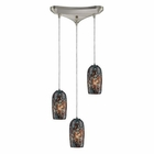 ELK 3- Light Pendant in Satin Nickel EK-31147-3