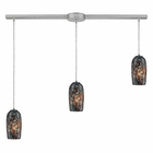 ELK 3- Light Pendant in Satin Nickel EK-31147-3L