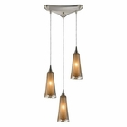 ELK 3- Light Pendant in Satin Nickel EK-31148-3