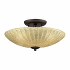 ELK 3- Light Semi-Flush in Aged Bronze EK-10281-3