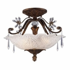 ELK 3 Light Semi-Flush in Burnt Bronze EK-2181-3