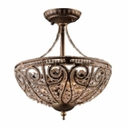 ELK 3 Light Semi Flush in Dark Bronze EK-5964-3