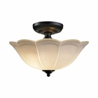 ELK 3 Light Semi Flush in Matte Black EK-66380-3