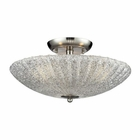 ELK 3- Light Semi-Flush in Satin Nickel EK-10271-3