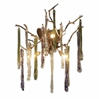 ELK 3 Light Wall Bracket in Talha Bronze and Multi Hued Spires EK-1700-4