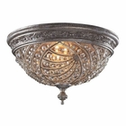ELK 4 Light Flush Mount in Sunset Silver and Crystal Accents EK-6232-4