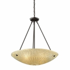ELK 4- Light Pendant in Aged Bronze EK-10282-4