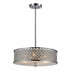 ELK 4- Light Pendant in Polished Chrome EK-31105-4