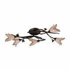 ELK 5 Light Flush Mount in Aged Bronze and Hand Blown Tulip Glass EK-7956-5