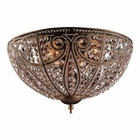 ELK 6 Light Flush Mount in Dark Bronze EK-5963-6