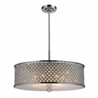 ELK 6- Light Pendant in Polished Chrome EK-31106-6