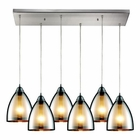 ELK 6 Light Pendant in Satin Nickel EK-10073-6RC
