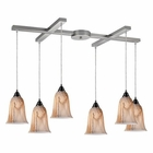 ELK 6- Light Pendant in Satin Nickel EK-31138-6