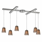 ELK 6- Light Pendant in Satin Nickel EK-31143-6