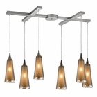ELK 6- Light Pendant in Satin Nickel EK-31148-6