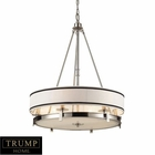 ELK 6 Light Pendant Lightin Polished Nickel EK-1624-6
