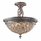 ELK 6 Light Semi Flush in Sunset Silver and Crystal Accents EK-6233-6