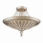 ELK 9- Light Semi-Flush in Aged Silver EK-11360-9