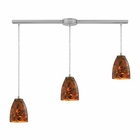 ELK Abstractions 3 Light Pendant in Satin Nickel EK-10460-3L-LS