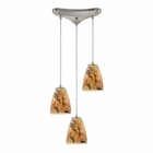 ELK Abstractions 3 Light Pendant in Satin Nickel EK-10460-3SF