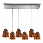 ELK Abstractions 6 Light Pendant in Satin Nickel EK-10460-6RC-LS